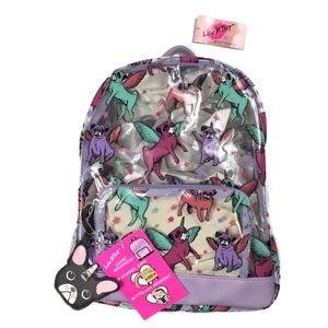 Betsey Johnson Bulldog Unicorn Backpack